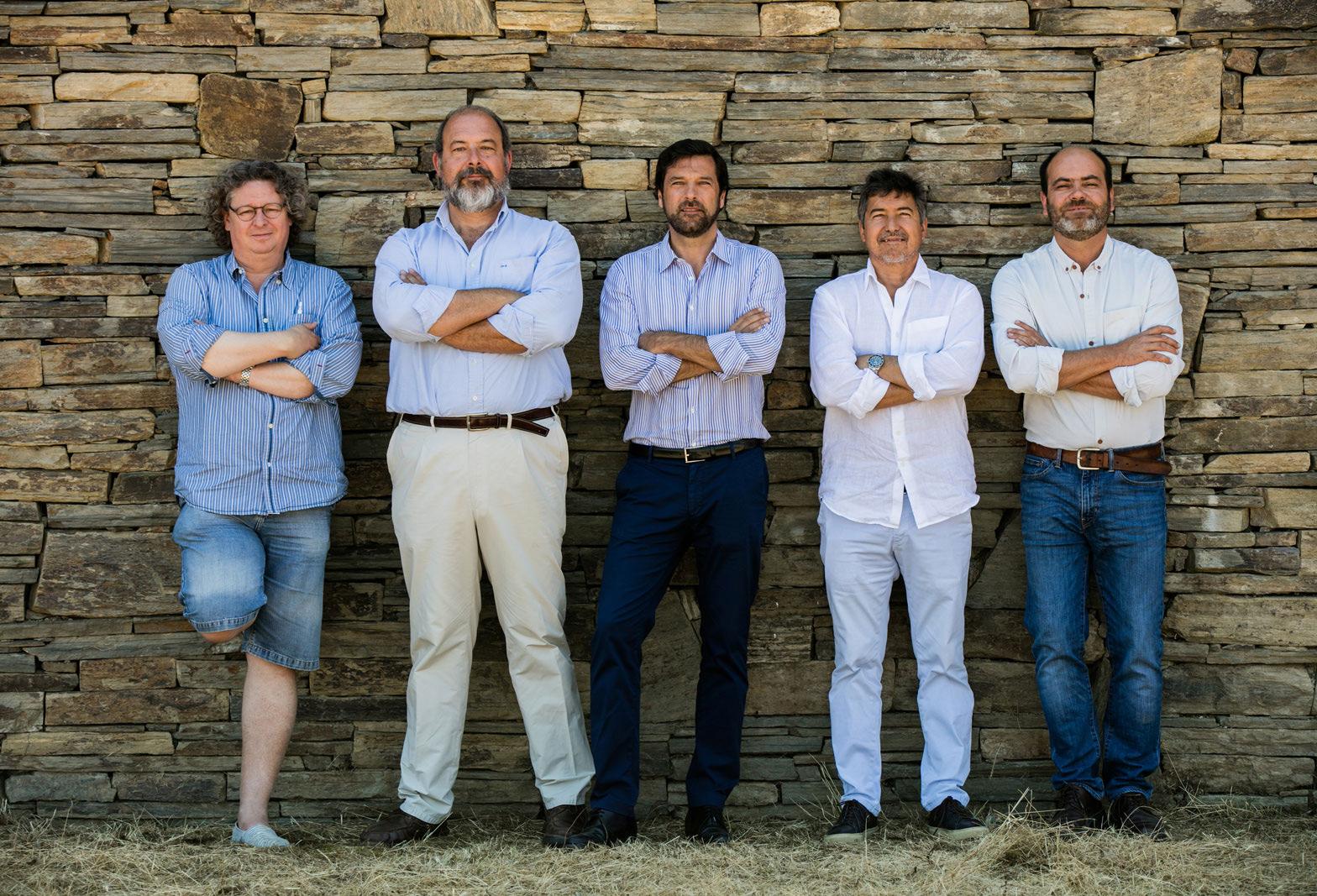 """Dirk, Cristiano, Tomas, João e Francisco (""""Xito"""") © Jorge Simão"""