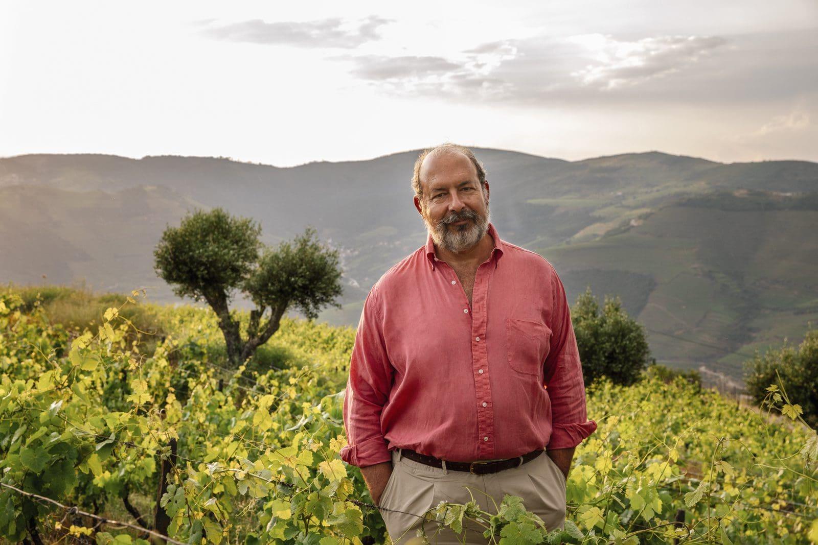 Cristiano van Zeller - THE storyteller of the group - in front of his vineyards. © Van Zellers & Co.